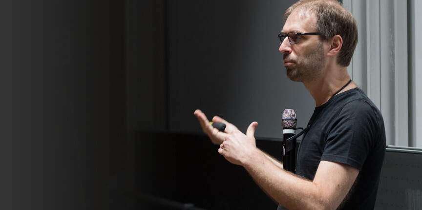 Sebastian Greger, speaking at Webkongress Erlangen 2018