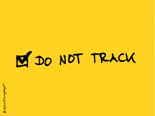 """a hand-drawn checkbox with """"do not track"""" selected"""
