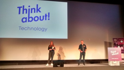 Chrissi and Jakob Holderbaum on stage